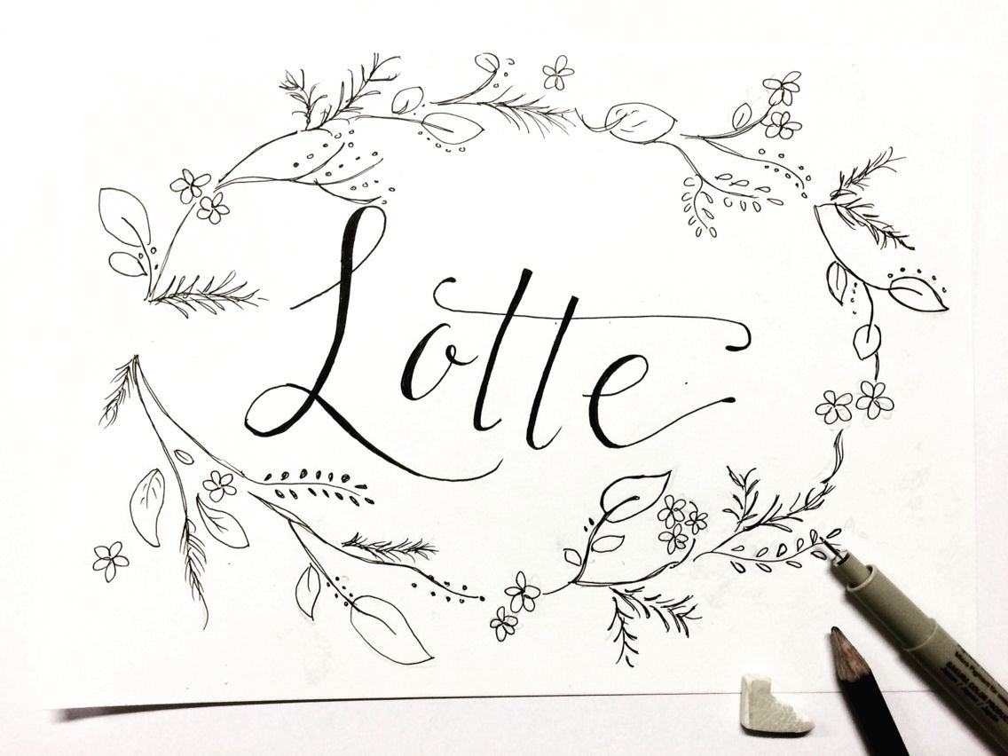 Calligraphy and doodles lotte