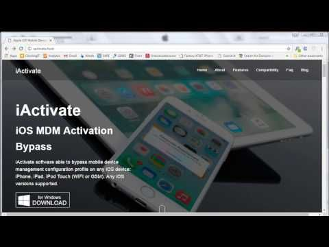 2) iOS Mobile Device Management (MDM) Lock Bypass [iActivate