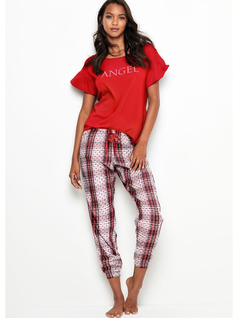 bd7e4c27765b7 The Flannel Jogger | Favorite: Victoria's Secret | Silk pajamas ...