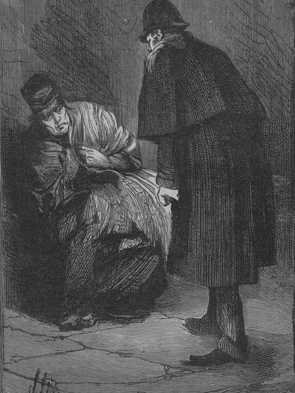 Jack the Ripper portrayed wearing a deerstalker hat and long