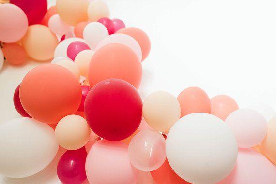 Blush Balloon Garland | Balloon Arch | DIY Balloon Garland | Bridal Shower Decor | Blush Baby Shower | Wedding Balloon | Wedding Reception #balloonarch