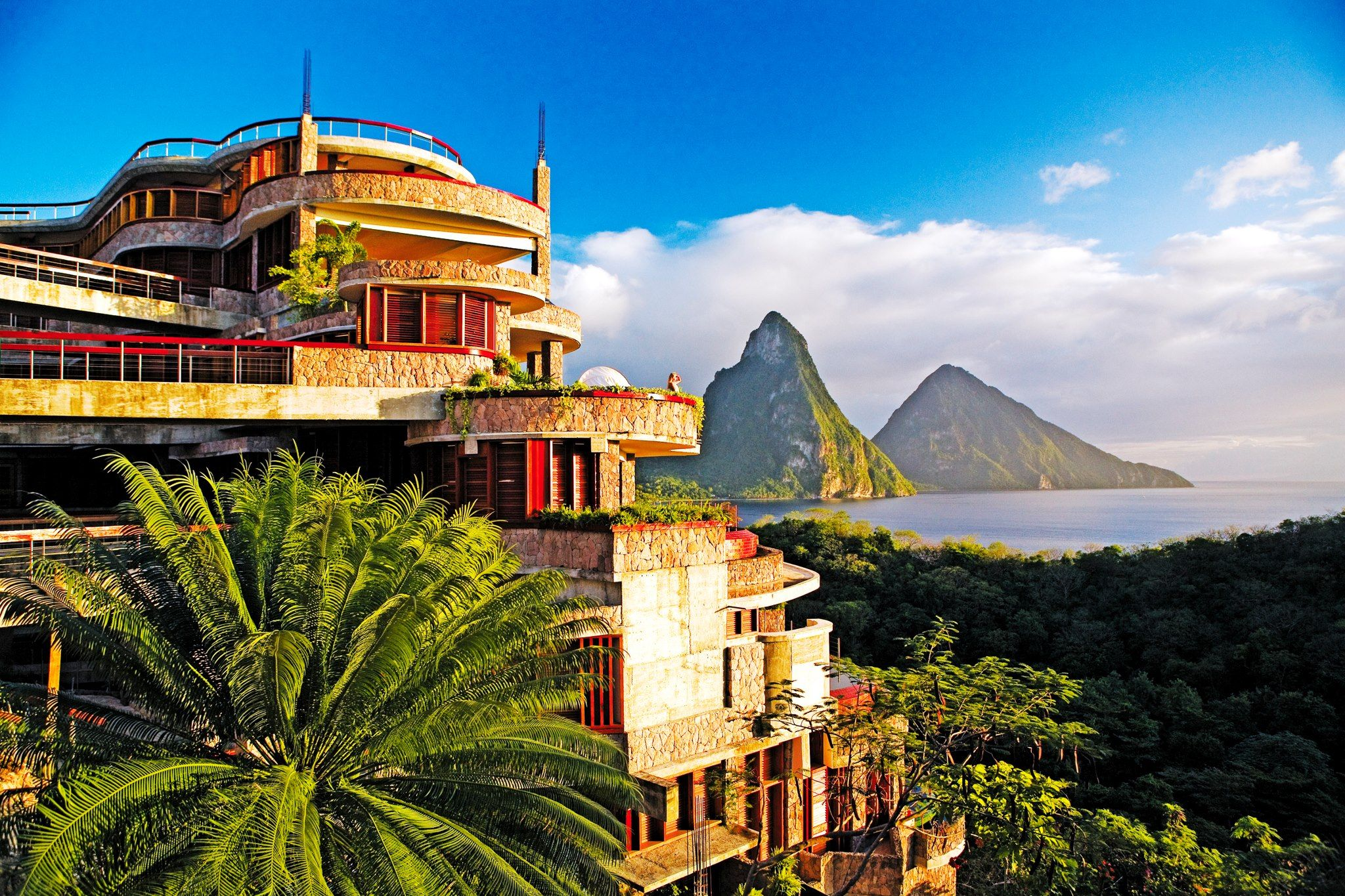 Jade Mountain Review  St lucia resorts Caribbean resort