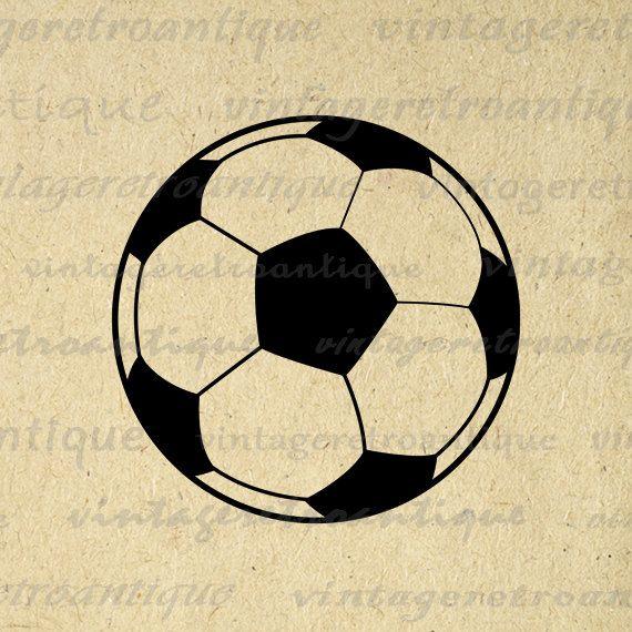 11x14 Printable Image Soccer Ball Graphic Download Soccer Digital Illustration Vintage Clip Art For Transfers Printing Etc 300dpi No 3968 Clip Art Vintage Printable Image Digital Illustration