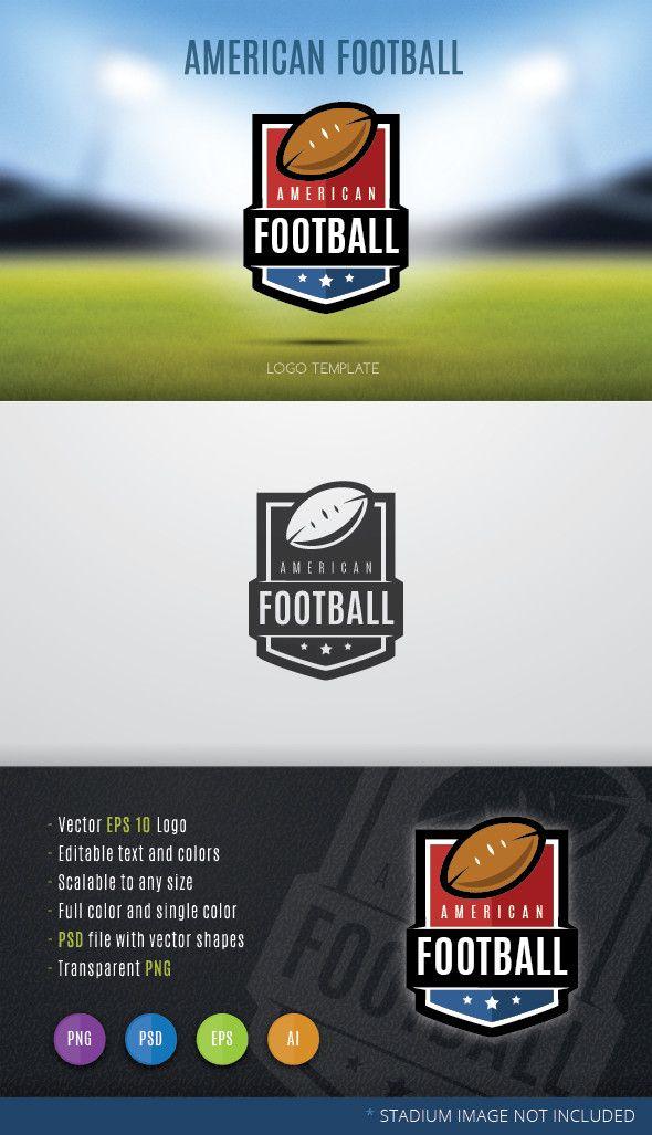 American Football Logo Template Football Logo Design American