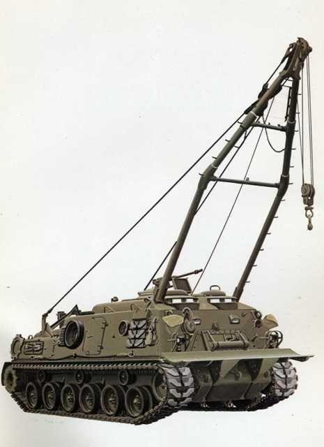 Vehículo acorazado de recuperación M88A1. (EE.UU 1973)