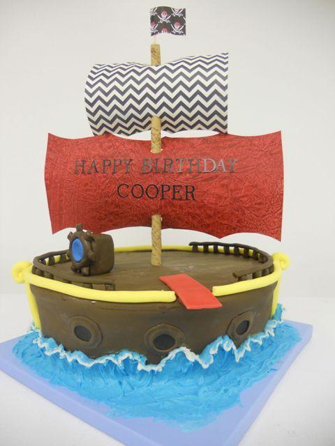 Pirate Ship Birthday Cake birthdaycake Birthday Cakes Pinterest
