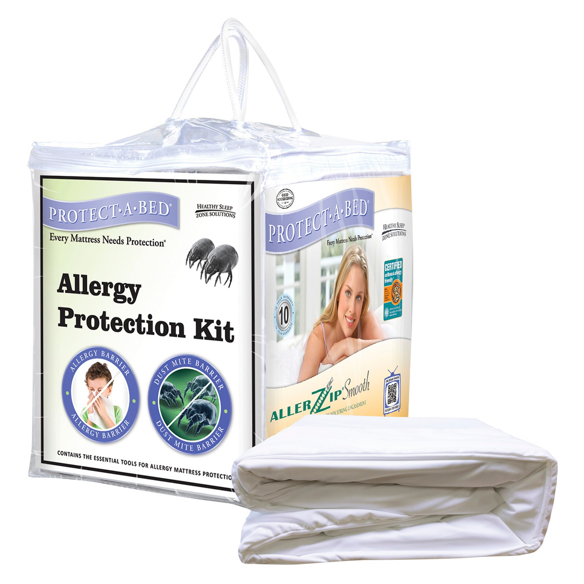 PROTECTABED Allergy Protection Kit White (Cal King