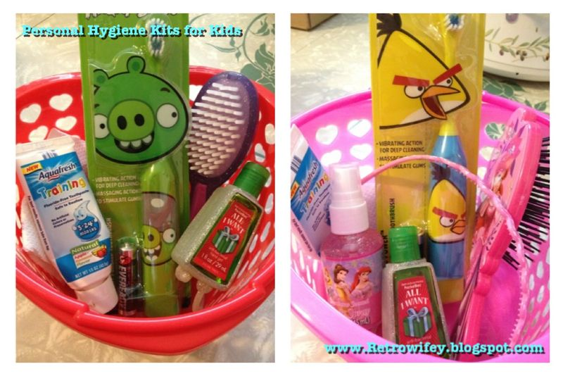 Personal Hygiene Kits For The Kids Easy To Reach And After