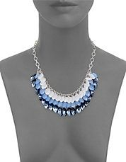 Multi-Row Marquise Statement Necklace