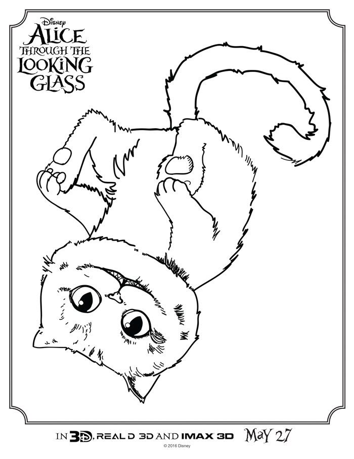 Alice Through the Looking Glass Coloring Sheets | Children and ...