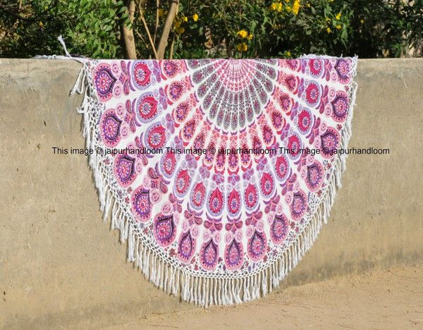 Pressing for a weekend at beach is a breeze. We all pretty much take our most recent swimming outfits, flip-flops, tank tops, scanty shorts, smoke screens, and most loved sunscreen. In any case, what the vast majority don't regularly put resources into is a trusty beach mat/towel. Jaipur handloom helps you providing various gorgeous colorful cotton light weight round beach towel roundies for beach fun.