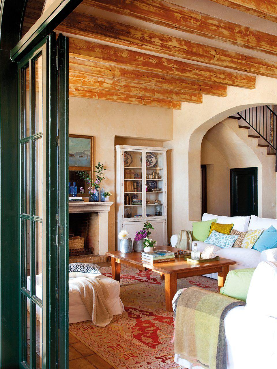 Una menorquina muy provenzal Interiores de casa, Casas y