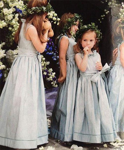 00853f21d30 Little angels adorning blue dresses for something blue!   BLUE FLOWER GIRL  DRESSES BY WEDDBOOK