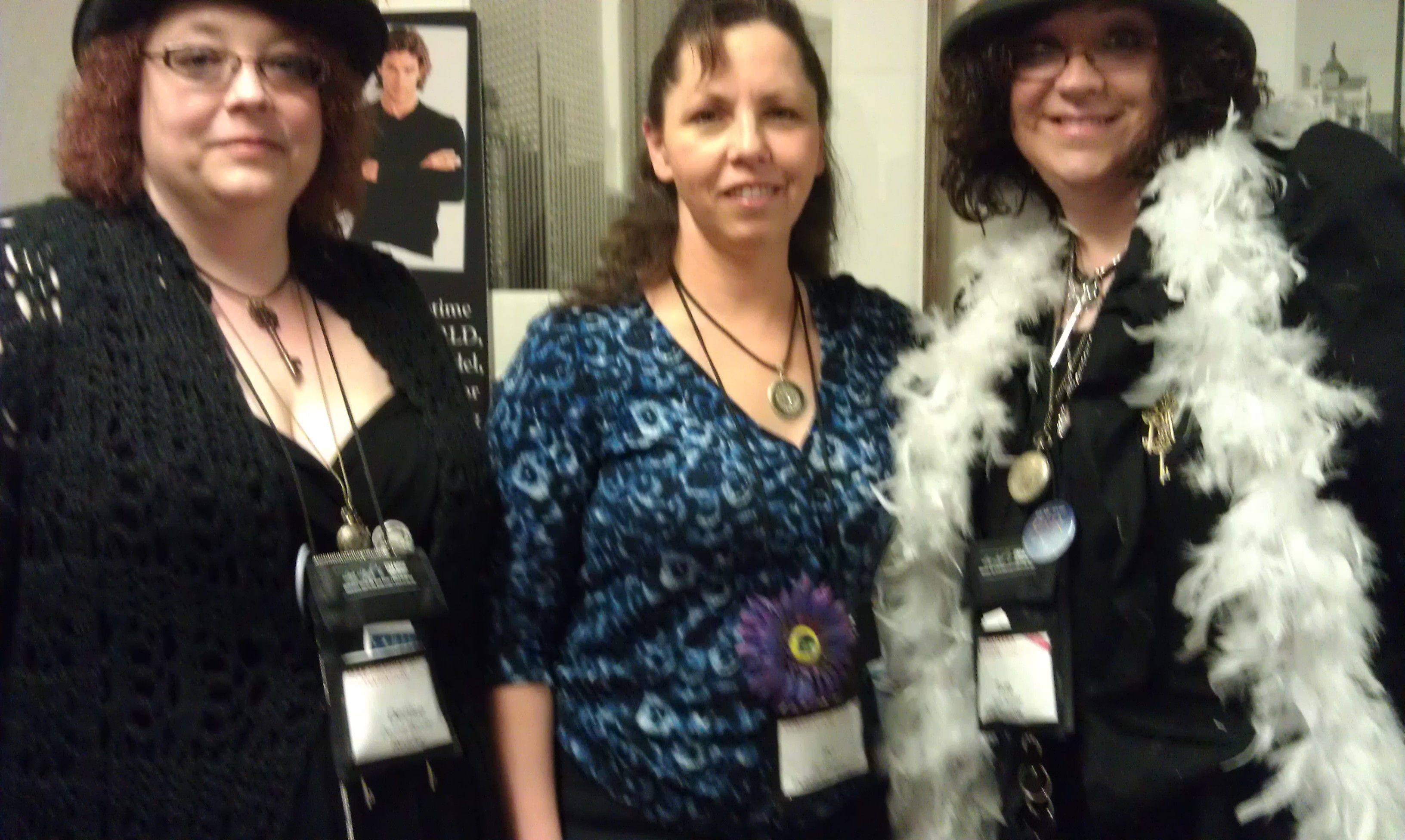 Posing with readers at RT 2012