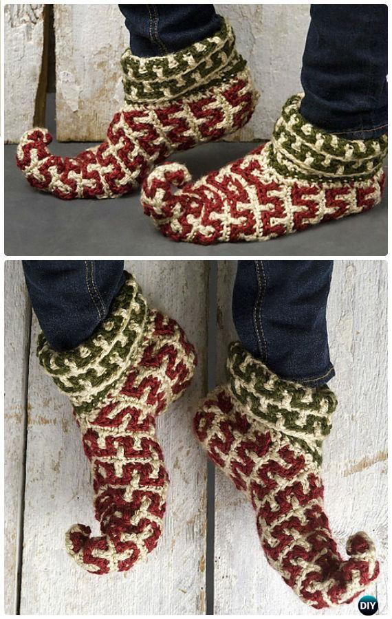 Crochet Women Slippers Free Patterns | Zapatillas, Ganchillo y ...