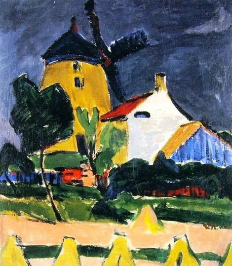 Ernst Ludwig Kirchner The Windmill At Moritzburg On Artstack
