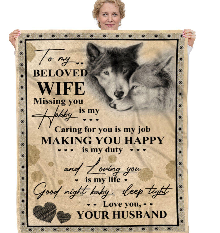 Fleece Blanket Gift For Wife BLANKETQUILTTQT1637645 - Fleece Blanket / Small