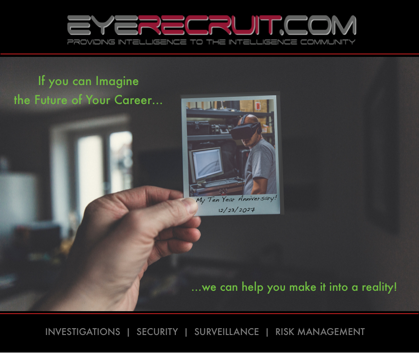 Imagine your Future - Reality   EyeRecruit com Founded by
