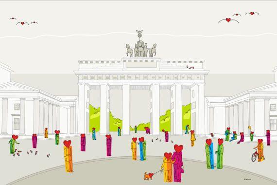 Berlin Brandenburger Tor Felix Krusch Illustration Felix Berlin Illustration