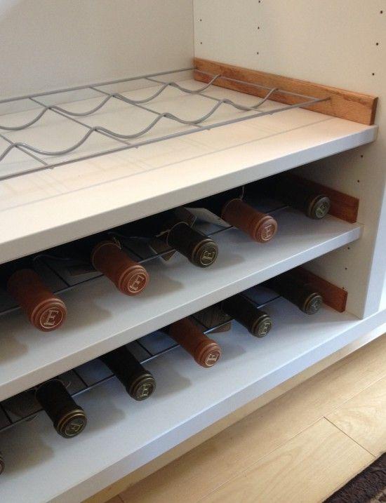 Besta Wine Rack Hack Doe Het Zelf En Knutselen Wijnkelder Ikea