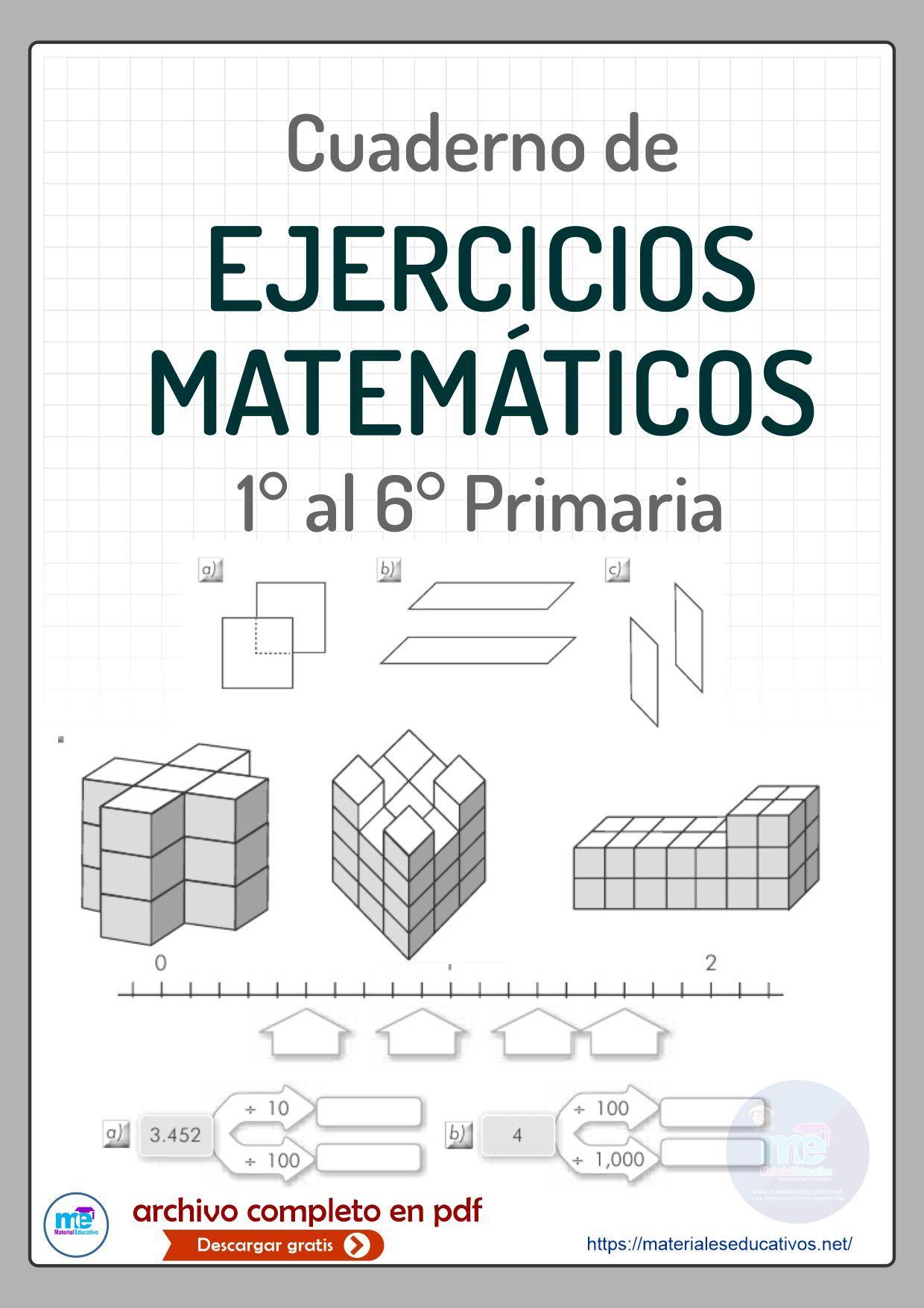 Cuaderno De Ejercicios Matemática Primaria Ejercicios Matematicas 5 Primaria Ejercicios Matematicas 3 Primaria Acertijos Matematicos Para Primaria