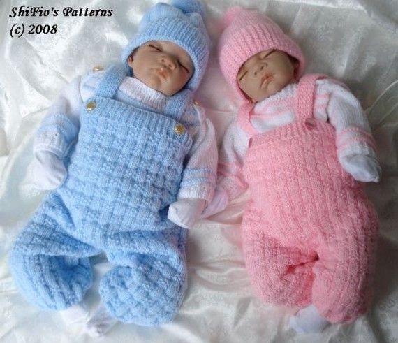 Knitting Patterns For Babies Born Asleep : Pattern in pdf knitting patterns boy girl baby by