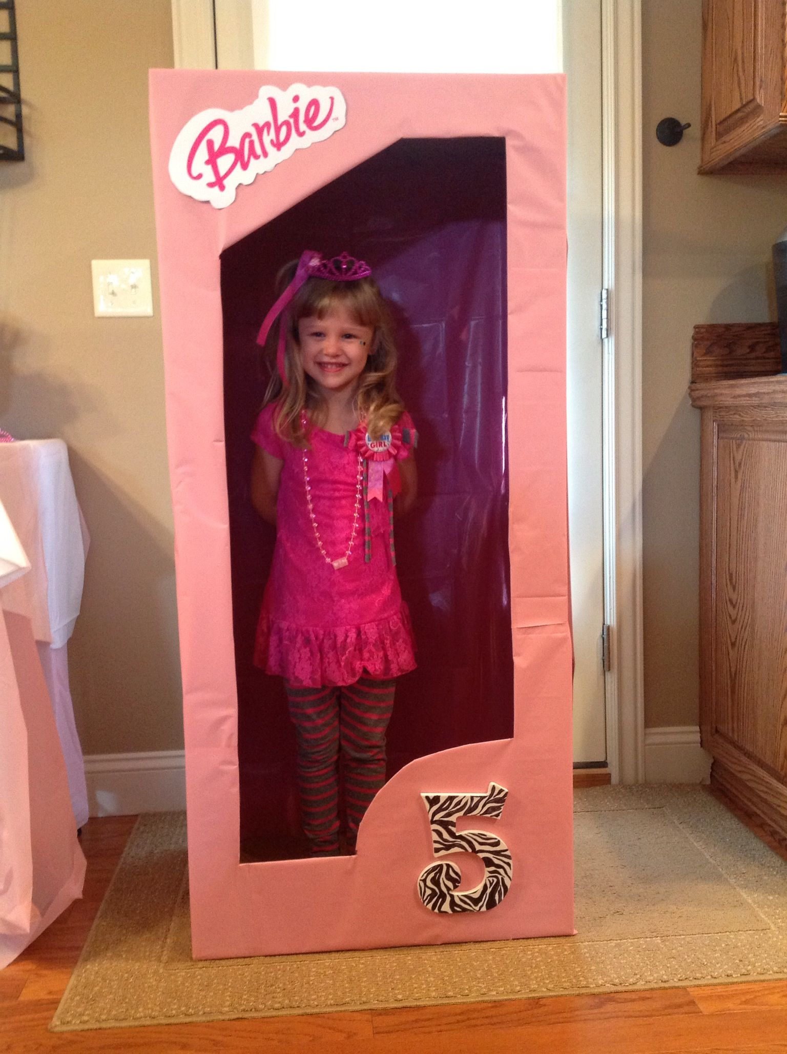 Our Life Size Barbie Box Birthday