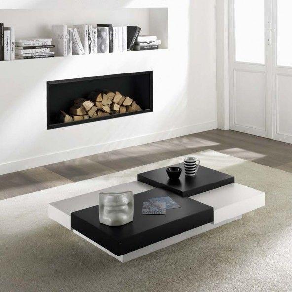 Tavolino da salotto Levels rettangolare e bicolore - ARREDACLICK ...