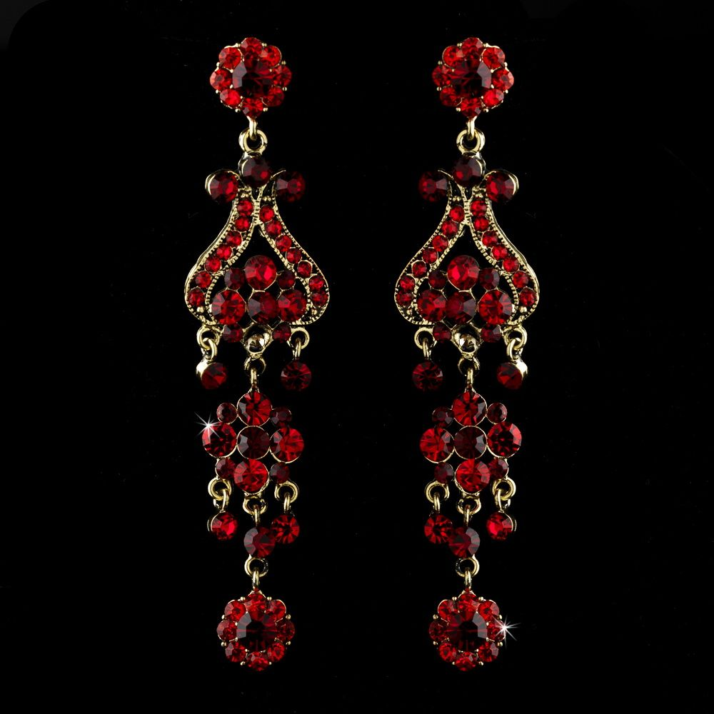 Opentip elegance by carbonneau e 1033 red gold gold red earring bold gold plated red crystal quinceanera sweet 16 or prom chandelier earrings arubaitofo Choice Image