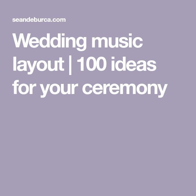 100 Ideas For Your Ceremony