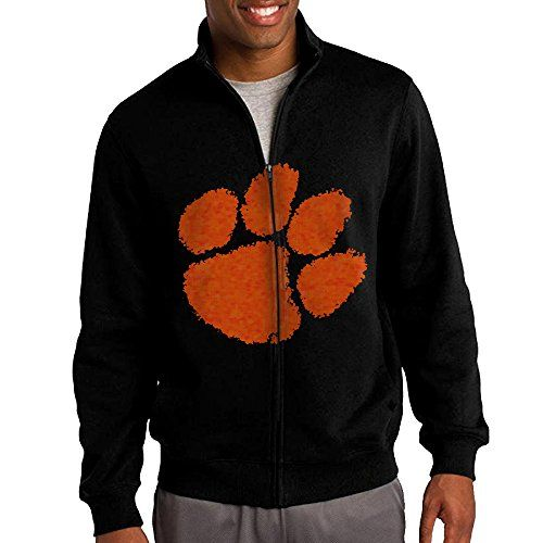 ILKU Mens Clemson University Full Zip Hoodies Jacket Black Size L *** You can find more details by visiting the image link.(This is an Amazon affiliate link and I receive a commission for the sales)