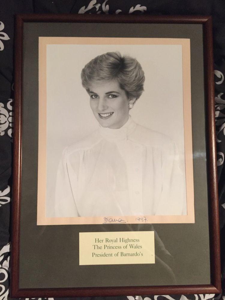 Princess Diana Autograph Signed 1987 - President of Barnardos  | eBay