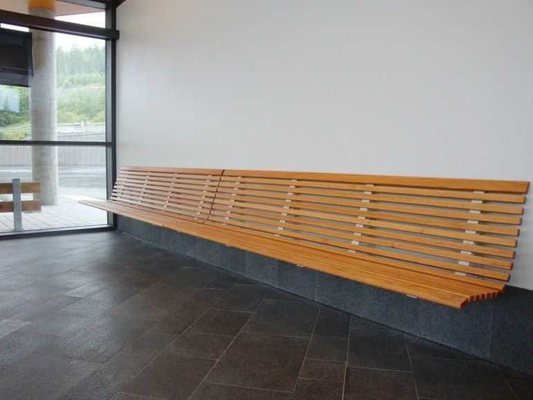 Wall-Mounted wooden Bench with back NO2 | Wall-Mounted Bench - Nola ...