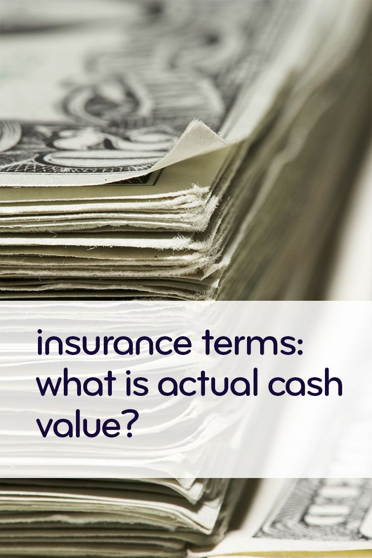 Insurance defined actual cash value car insurance claim