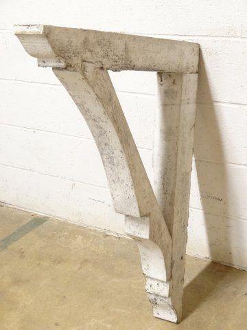 Columbus architectural salvage salvaged wood corbel for Architectural corbels and brackets