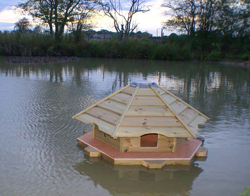 floating duck houses for ponds | floating mallard duck houses http