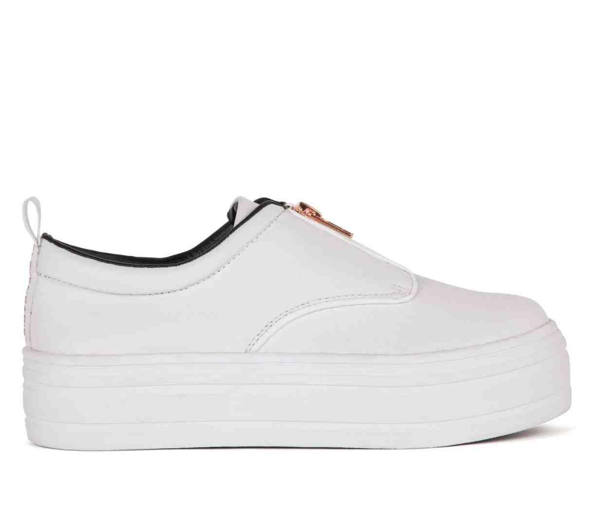 White Platform Tennis Shoes | White