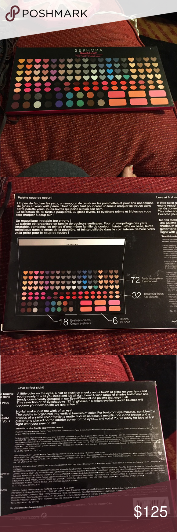 Sephora massive Palette makeup crush kit offers 😊 NWT