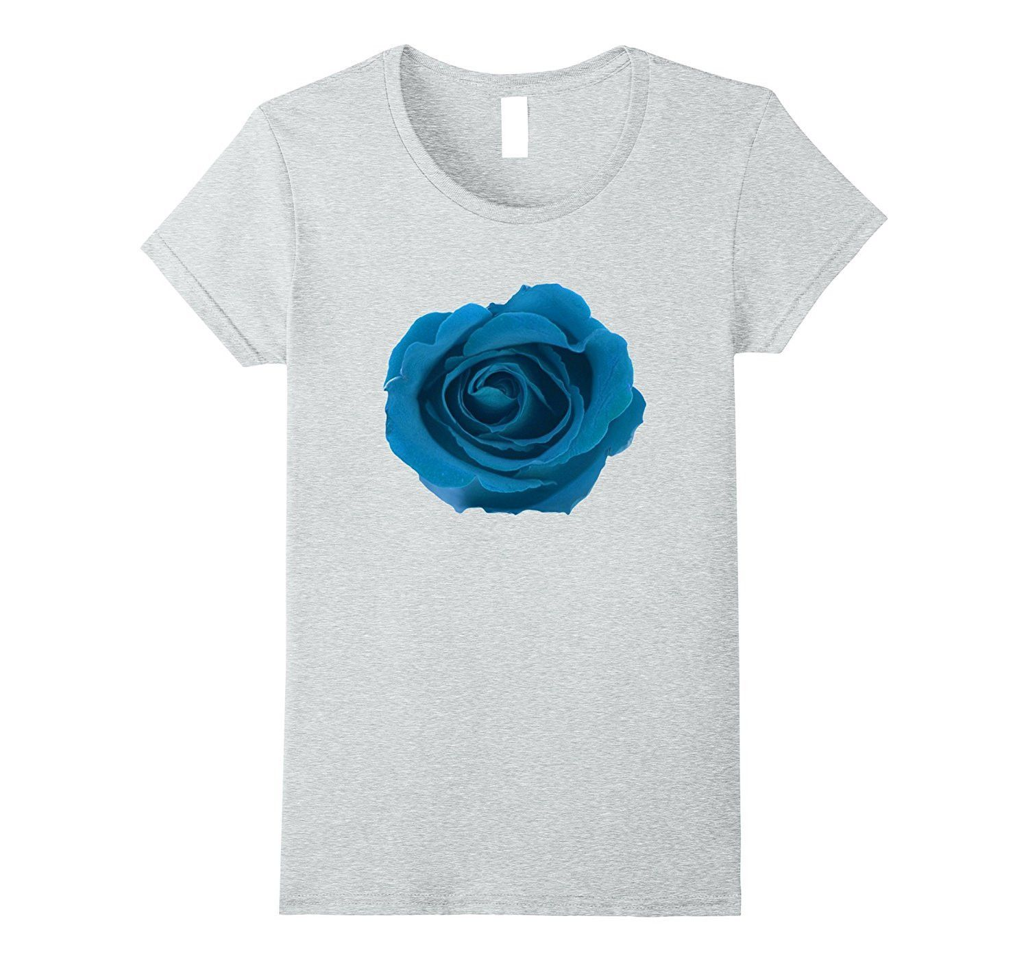 In Full Bloom Big Blue Rose Flower Floral Theme TShirt Products - Machu picchu tampa
