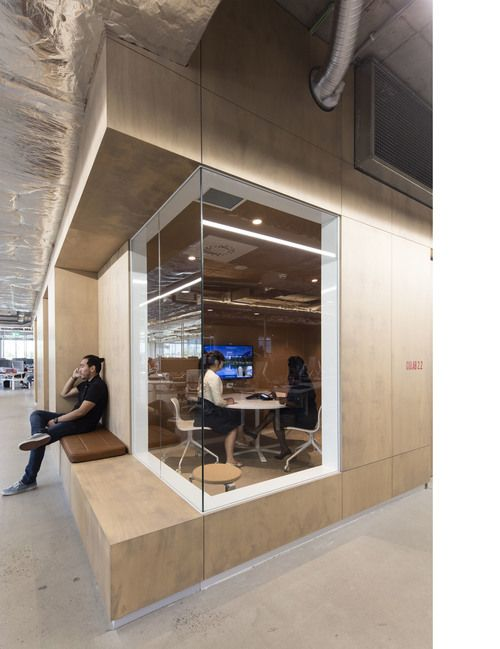 Open Study Room: Beautiful Use Of Wood, Natural Light, And Geometric Design