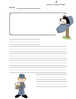 Friendly Letter Template K  Friendly Letter Letter Templates And
