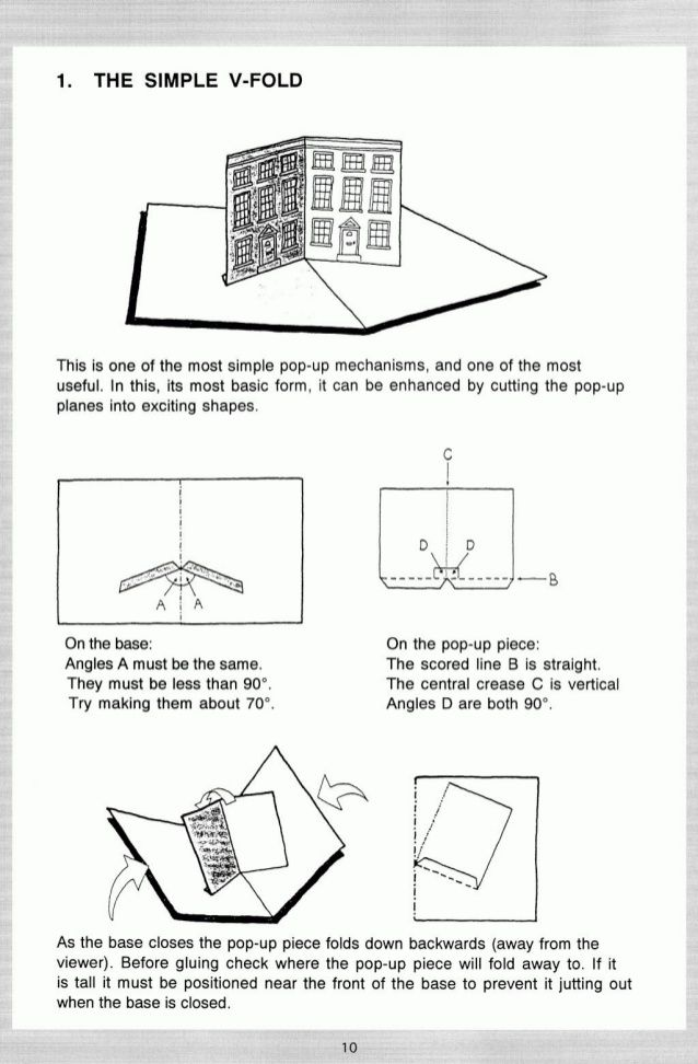 Here Is A Step By Step Guide On How To Create A V Fold Design Which Is Far Easier To Follow Than Any Of The Other Images Paper Pop Pop Up Art Paper Engineering