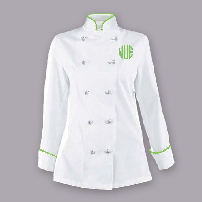 Women s chef jacket get your name or monogram custom