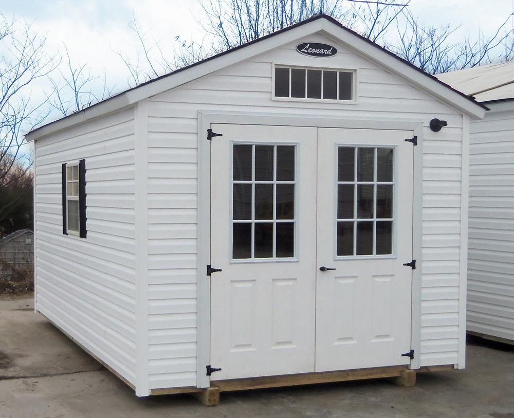 vinyl storage sheds leonard buildings - Garden Sheds Vinyl
