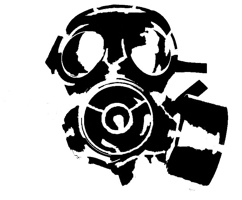 Inventive Fashion Hazard Gas Mask Toxic Steampunk Zombie Vinyl Decal Car Sticker Black/silver Car Stickers