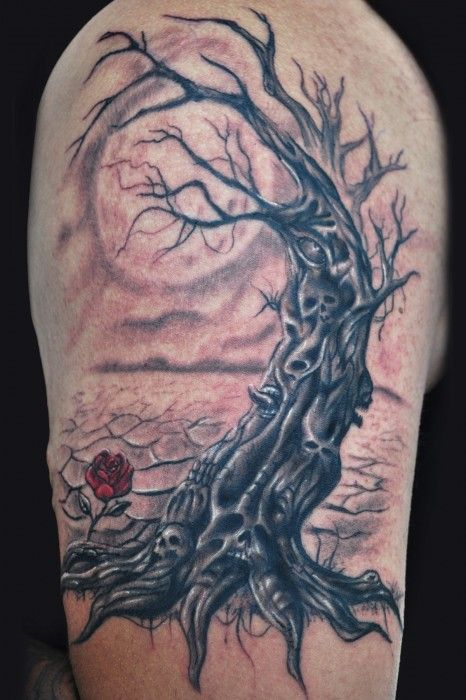 tree tattoos designs ideas meanings and photos scary tattoo rh pinterest com Spooky Tattoos Dead Tree Tattoos
