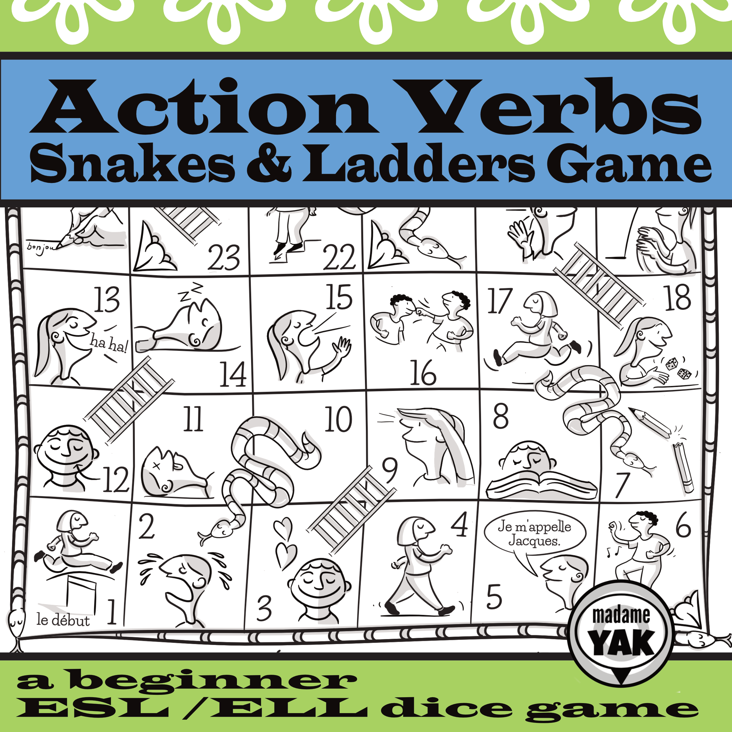 Action Verbs Esl Ell Snakes And Ladders Game Ladders Game Action Verbs Snakes And Ladders [ 2481 x 2481 Pixel ]