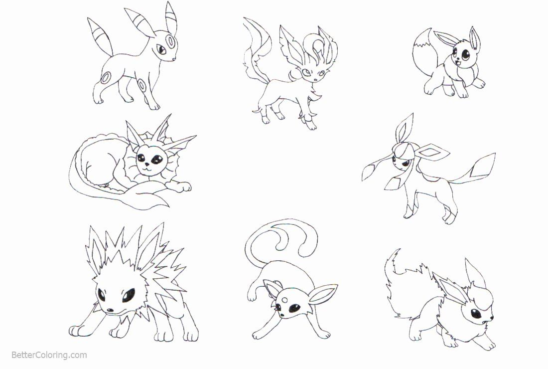 Eevee Evolutions Coloring Page New Pokemon Eevee Evolutions Coloring Pages Free Printable Bear Coloring Pages Coloring Pages Animal Coloring Pages