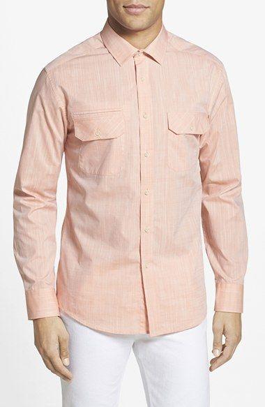 Men's Vince Camuto Slim Fit Double Pocket Sport Shirt