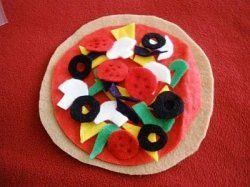 Free DIY play food patterns